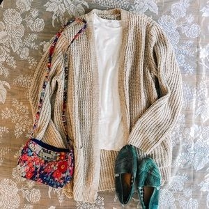 Seven7 l Taupe Cardigan
